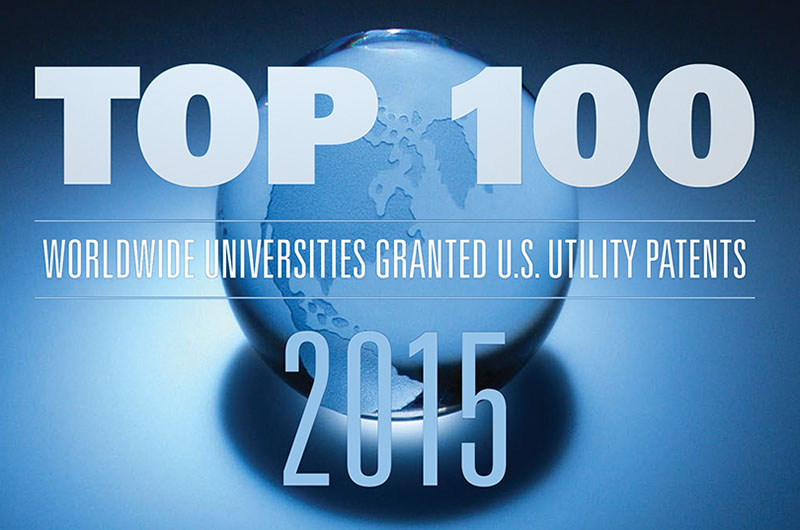The Top 100 list of worldwide universities granted patents released by The National Academy of Inventors and Intellectual Property Owners Association.