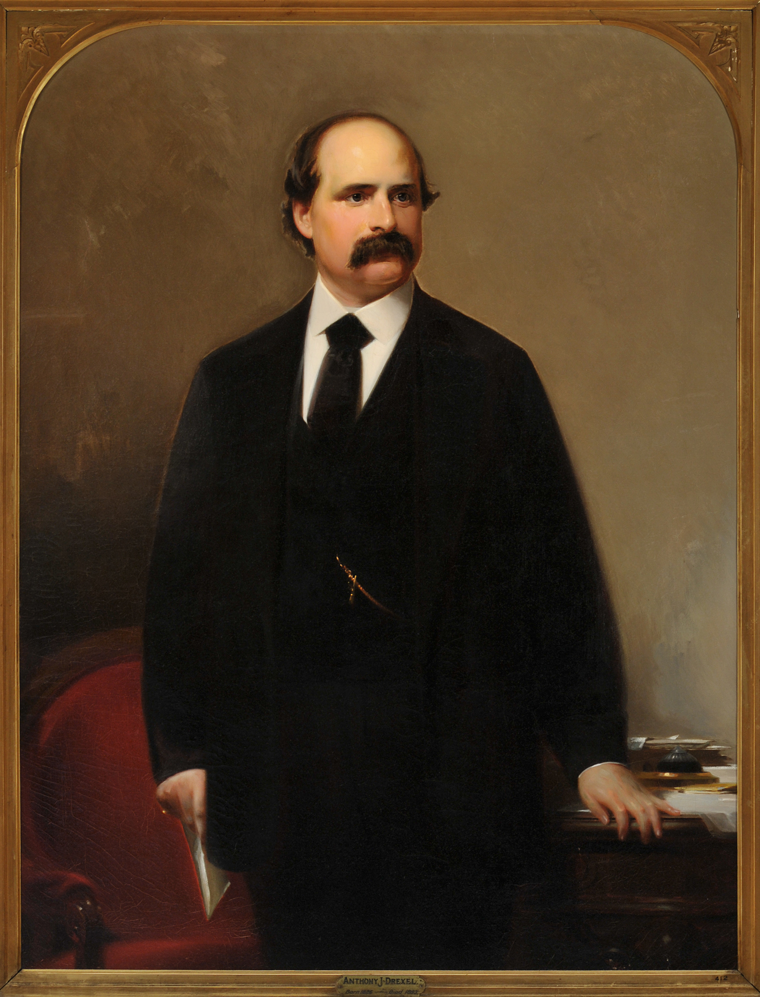 """Portrait of Anthony J. Drexel (1826-1893)"" was painted by Josef Bergenthal in 1860, when Tony was 34 years old. Photo courtesy The Drexel Collection."