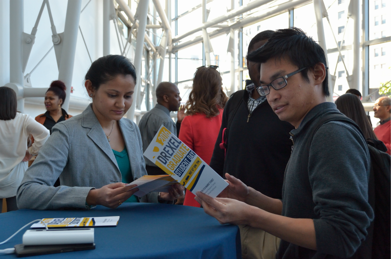 Drexel students mingle at this year's Graduate Student Day.