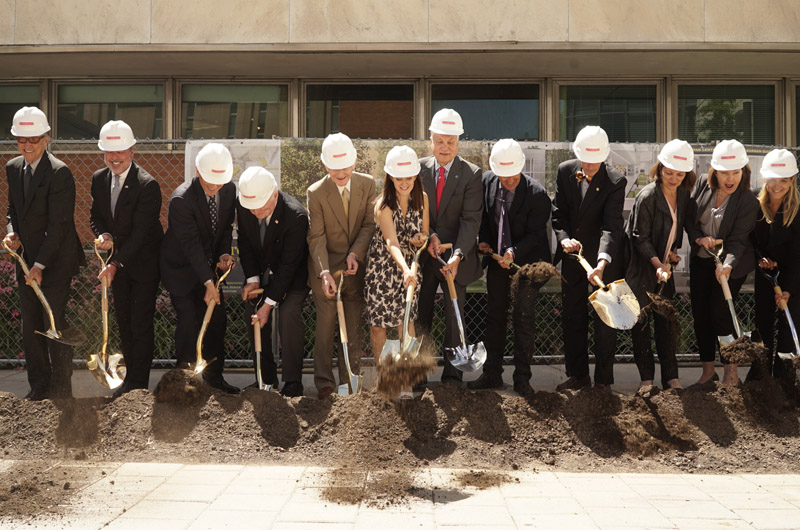 Photo of ceremonial groundbreaking for Korman Center addition