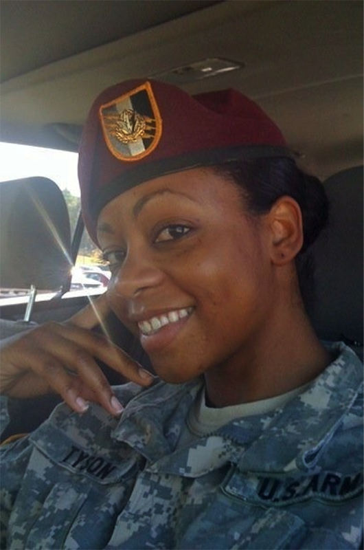 Yvette Tyson in uniform