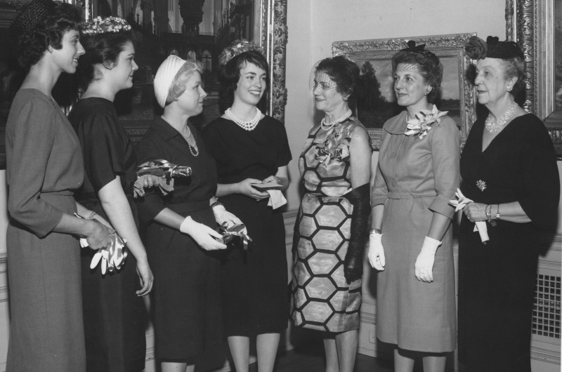 An undated photograph from the Drexel University Archives of the Drexel's Women's Club.