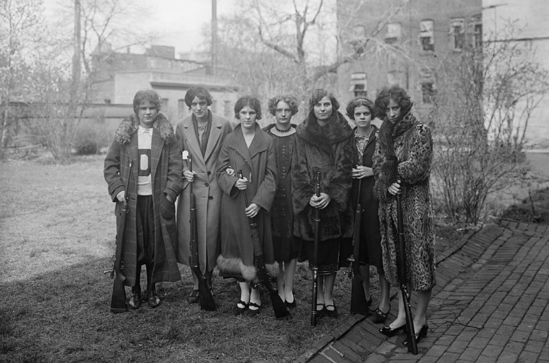 This photo of what is believed to be Drexel's 1925 women's rifle team has gathered over 2,000,000 views on Imgur and Reddit. Photo courtesy of the Library of Congress.
