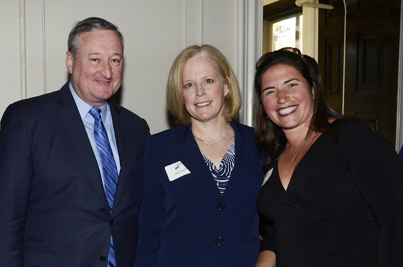 Mayor Jim Kenney, Beth Devine and Amy Giddings at the Coach's Conference opening reception.