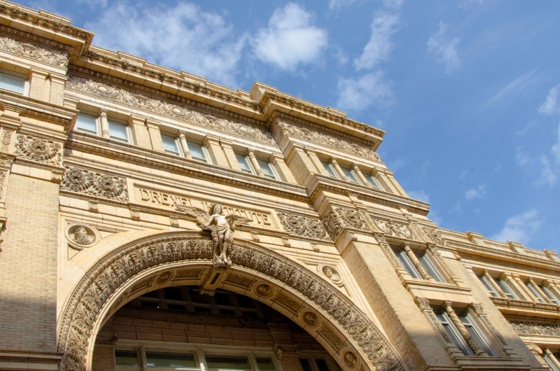 Take a closer look at the archway on Main Building's Chestnut Street entrance.