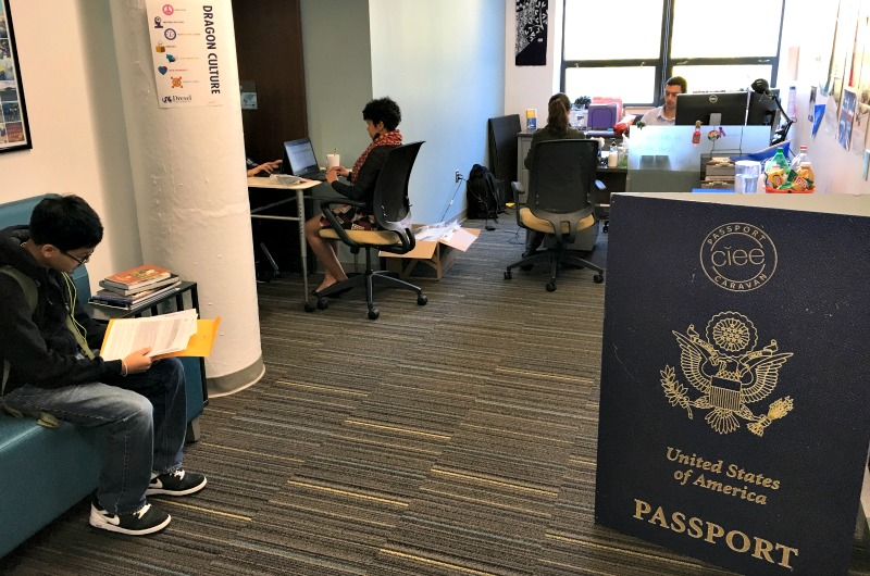 Students received free passports at the Passport Caravan event on Nov. 2.