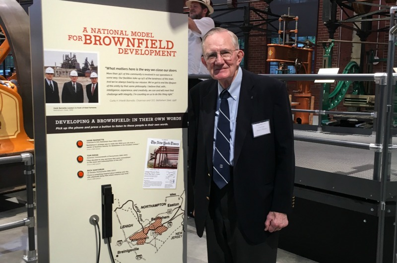 Hank Barnett, former CEO of Bethlehem Steel, attended the opening ceremony of the National Museum of Industrial History in a former Bethlehem Steel site.