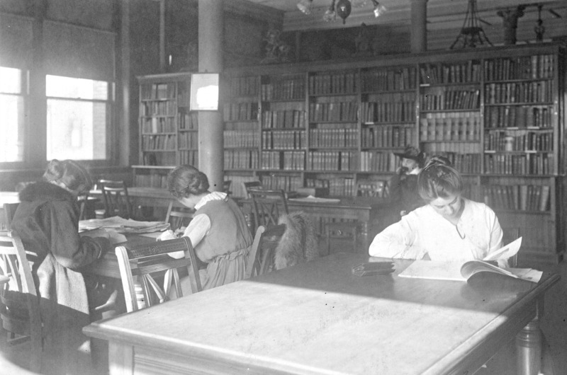 Drexel students study in the library in 1892. Photo courtesy University Archives.