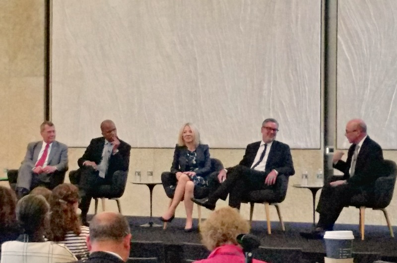 President John Fry speaking at a panel at the Barnes Foundation.