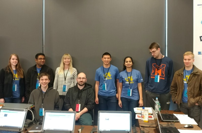 The CyberDragons at the CCDC Regional Finals.