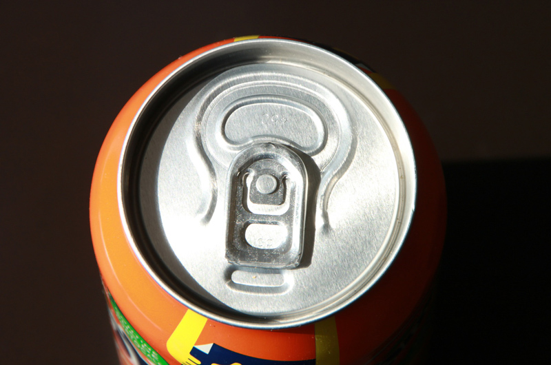 The top of a soda can