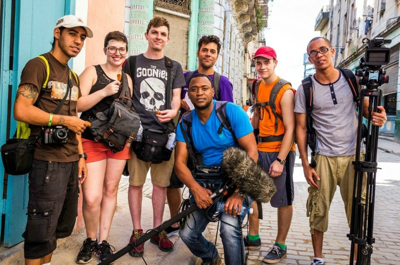 Drexel students in Cuba for a documentary course.