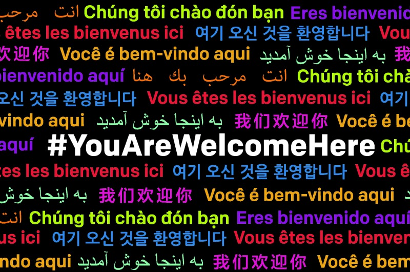 Image courtesy #YouAreWelcomeHere.