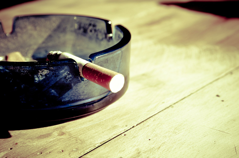 A cigarette in an ashtray