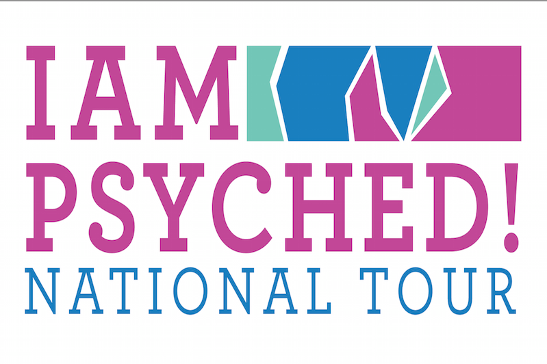 """I am Psyched"" exhibit logo"