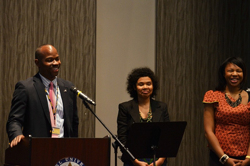 Drexel Provost M. Brian Blake speaks at last year's Black History Month luncheon.