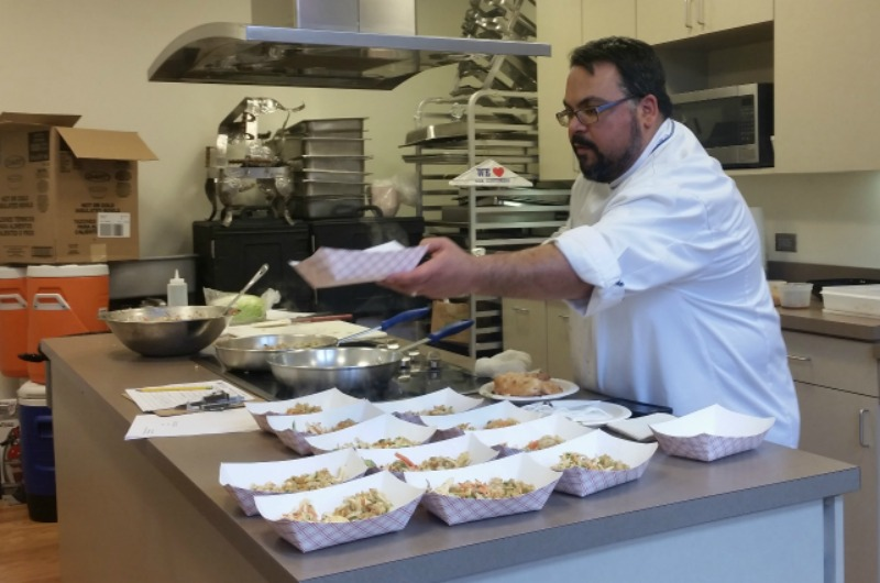 Chef Brian Lofink serves up an Asian-inspired menu at a recent cooking workshop.