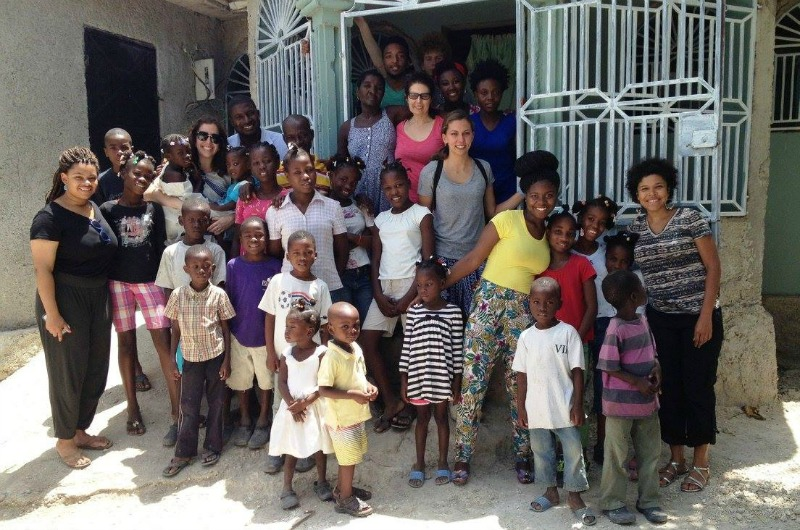 Drexel staff and faculty at the Love Orphanage in Haiti