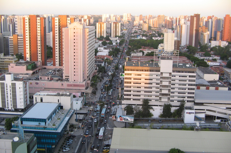 A view downtown in Fortaleza, Brazil.