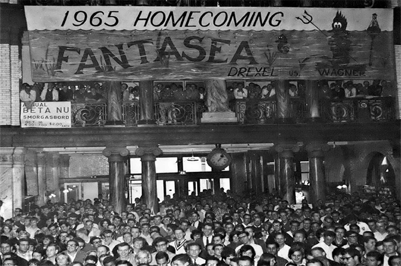 Main Building was packed for an event celebrating 1965's Homecoming in this photo from the 1966 Lexerd yearbook. Photo courtesy University Archives.