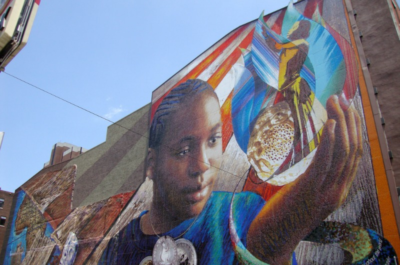 One of Philadelphia's many murals.