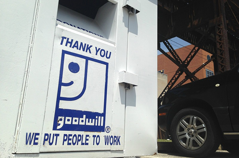 Goodwill bins are on campus for the annual donation drive.