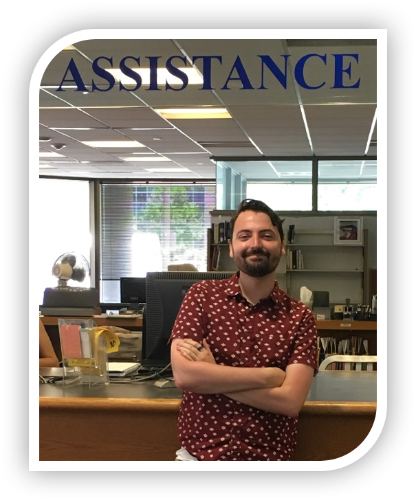 Jesse Webster, specialist I, library assistance.