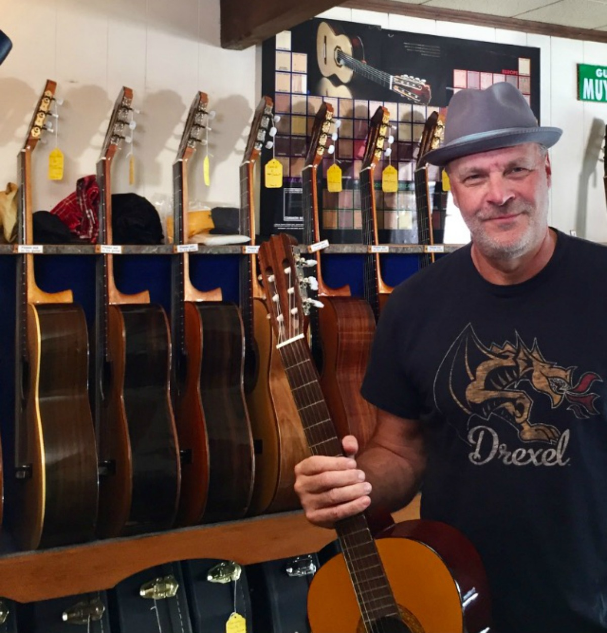 "Besides Drexel University,  Eric likes to ""hang out"" at the Philadelphia Classical Guitar Store at 2038 Sansom St."