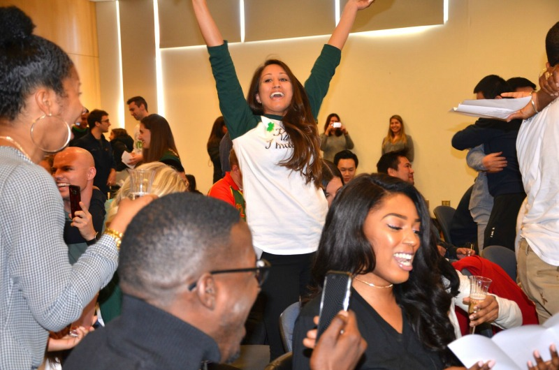 Drexel College of Medicine students celebrate upon learning their residency destinations.