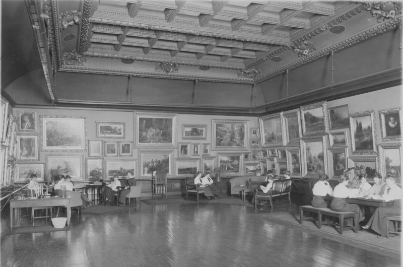 The A. J. Drexel Picture Gallery in an undated photo. Photo courtesy The Drexel Collection.