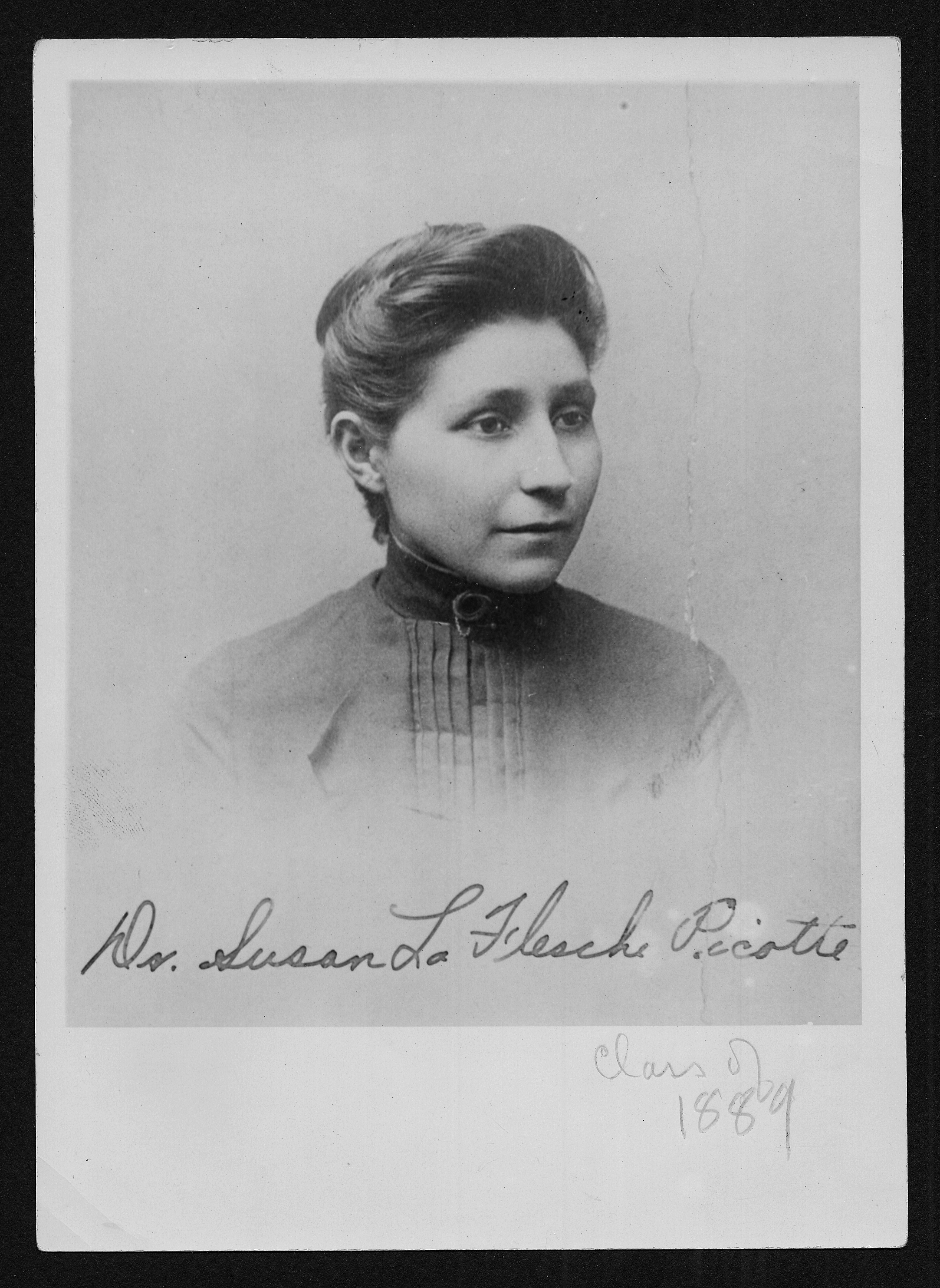 Portrait of Susan La Flesche Picotte, who graduated from the Woman's Medical College of Pennsylvania in 1889. Photo courtesy Legacy Center Archives, Drexel College of Medicine.