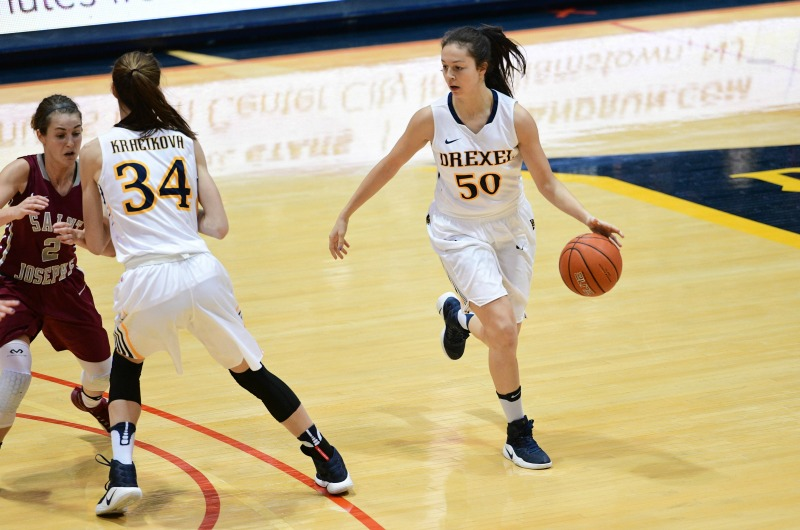 Drexel women's basketball player Ana Ferariu.
