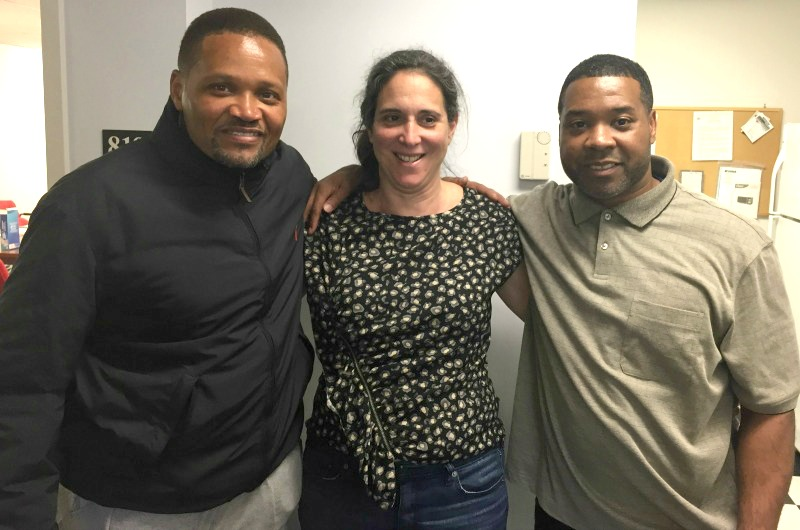 Drexel professor Cheri Brooks, center, alongside Courtney Boyd, left, and John Pace.