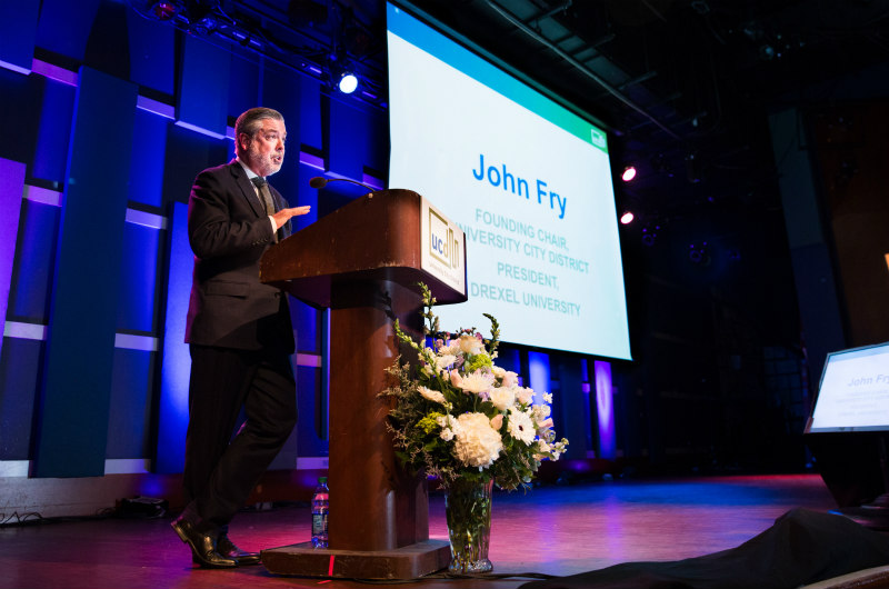 Drexel President John Fry at the University City District 20th anniversary celebration / Photo by Lora Reehling Photography