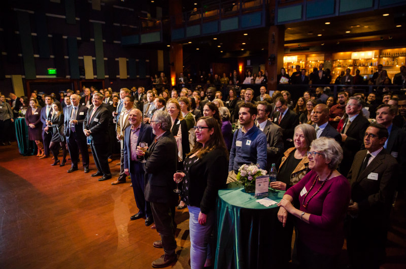 The crowd at University City District's 20th anniversary celebration / Photo by Lora Reehling Photography
