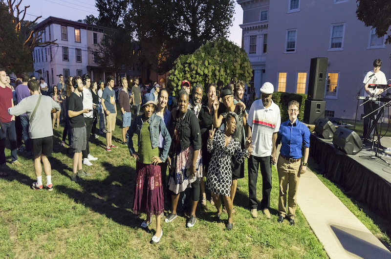 Writers Room members during their NEA Big Read launch event at the Dornsife Center for Neighborhood Partnerships, September 2016.