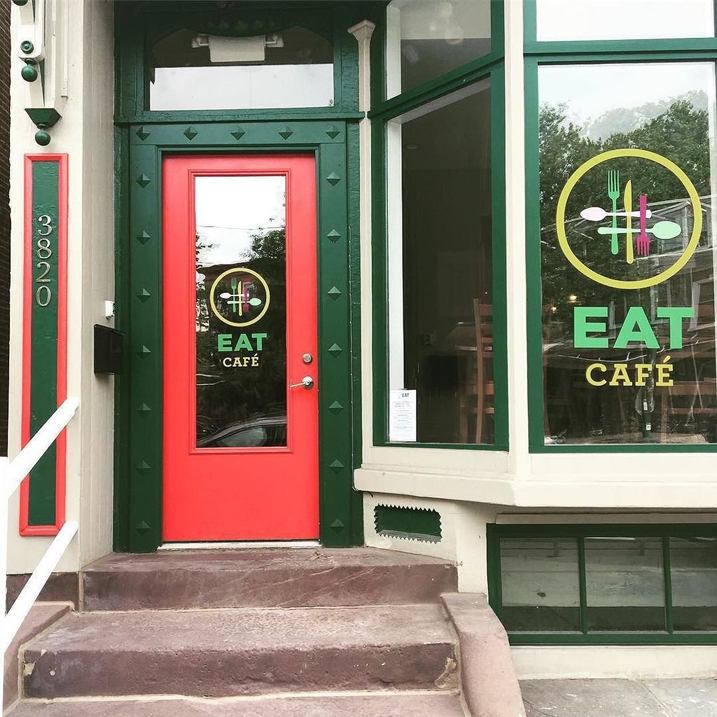 Front door for the EAT Cafe