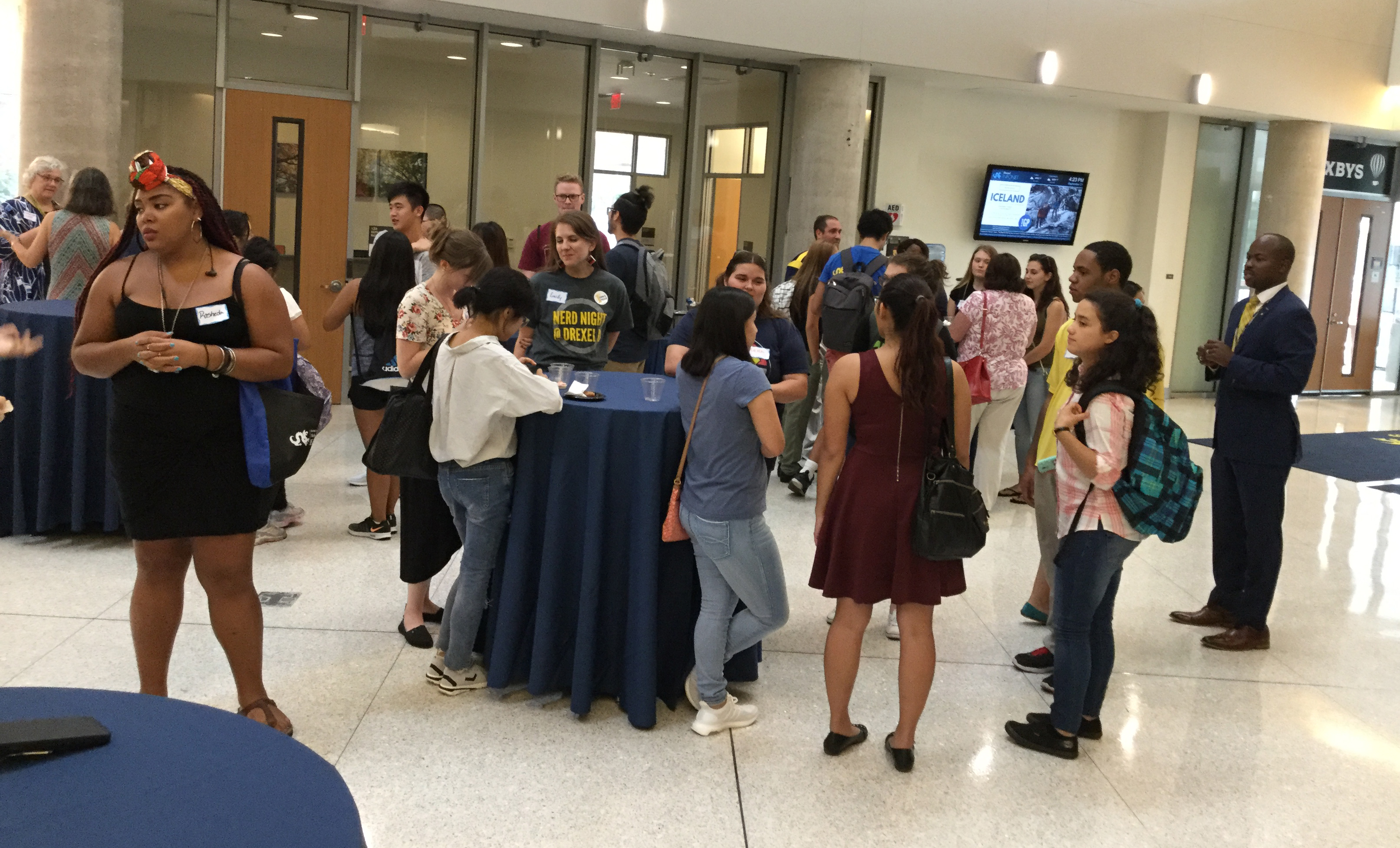 Students, faculty and staff mingled at the First Forward reception on Sept. 21.
