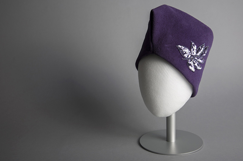 Hat, Olivia Turner, c. 1955, USA. Gift of Mr. Frank Stephens. Photo courtesy The Robert and Penny Fox Historic Costume Collection.