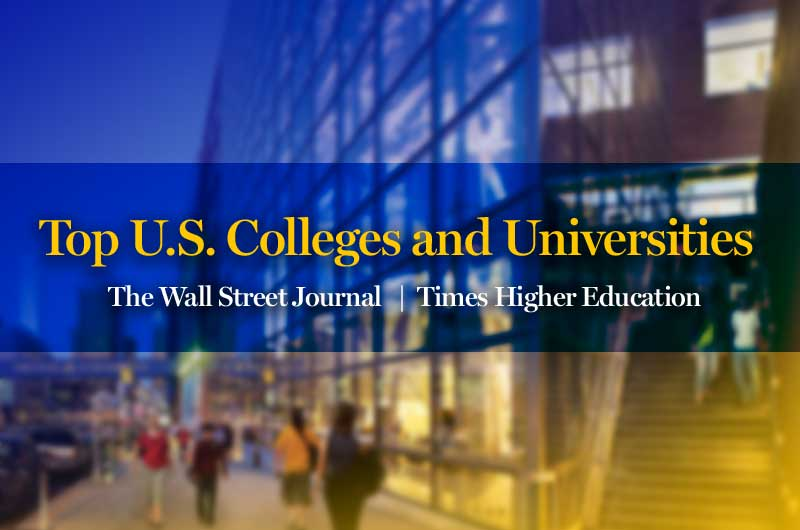 The Wall Street Journal and Times Higher Education ranking for Drexel University.
