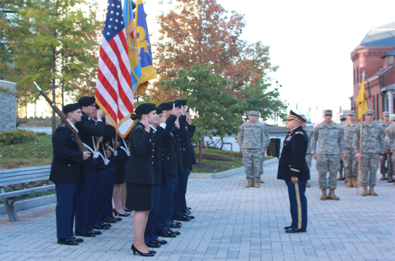 A moment during last year's Veterans Week at Drexel University. Photo credit Liz Moyer.