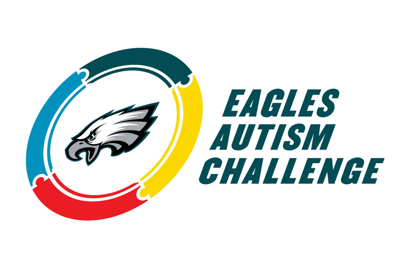the logo for the Eagles Autism Challenge