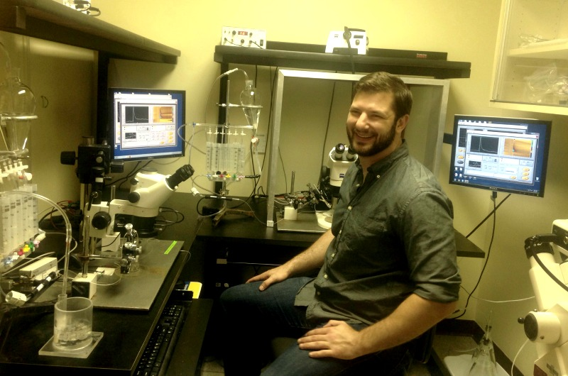 Zak Brodnik in the lab