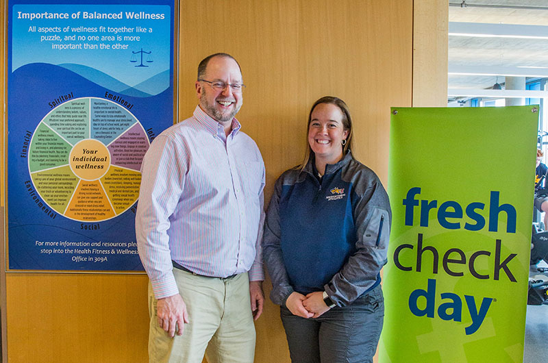Laura Sherbondy and Paul Furtaw coordinated Drexel's first Fresh Check Day
