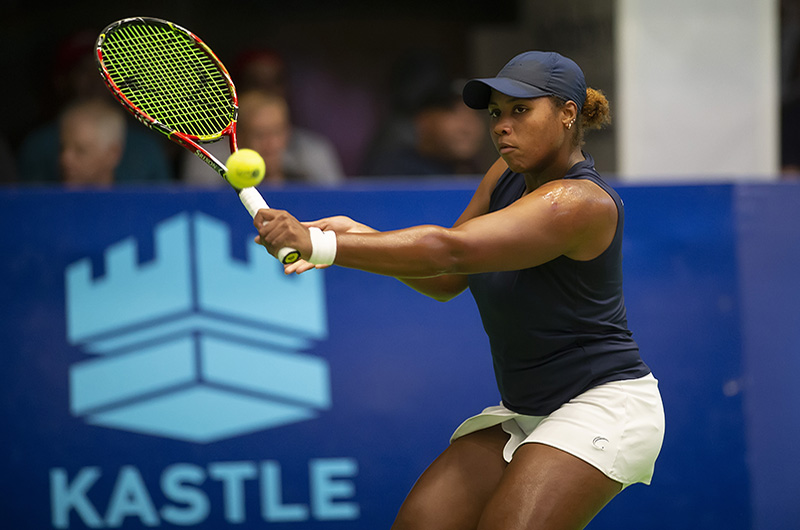 Taylor Townsend, who plays with the Philadelphia Freedoms, will compete this weekend at the DAC. She is currently undefeated in singles this year and is at a career high ranking of No. 61 in the world.