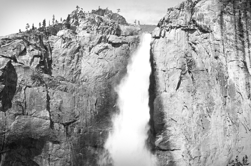 """Upper Yosemite Fall"" (1892) by William Henry Jackson."