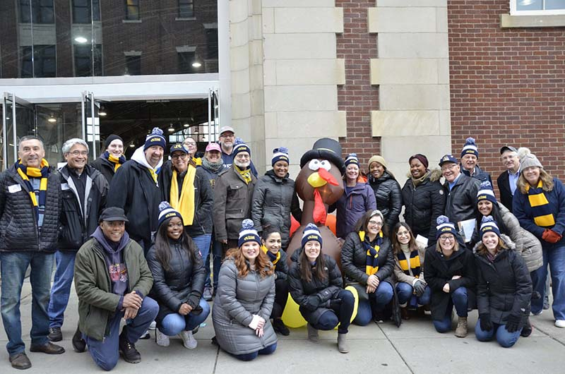 Drexel alumni, faculty, staff, students and friends helped distribute the turkeys and side dishes on the Univesity City Campus on Dec. 13.