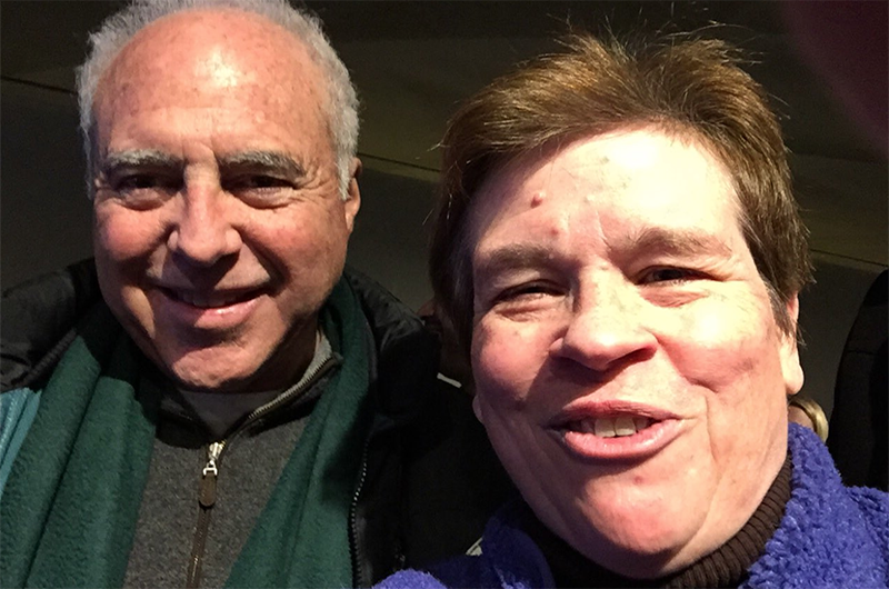 Karen Weaver, PhD, associate clinical professor in the Center for Sport Management, ran into Eagles owner Jeffrey Lurie when she went to the Super Bowl as a guest of NFL Films.