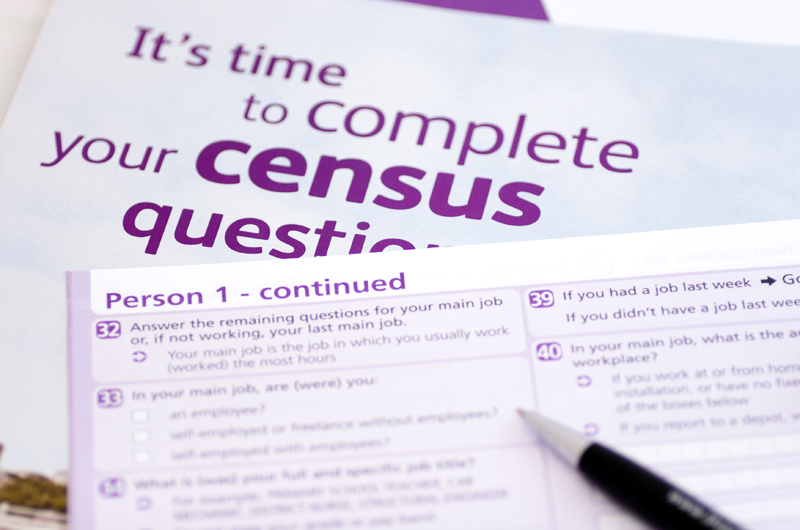 U.S. Census form