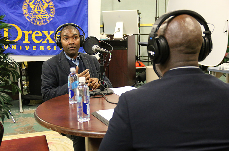 "Aroutis Foster, PhD, an associate professor in the School of Education who sat down for an episode of Drexel University Online's ""Drexel's 10,000 Hours"" podcast."